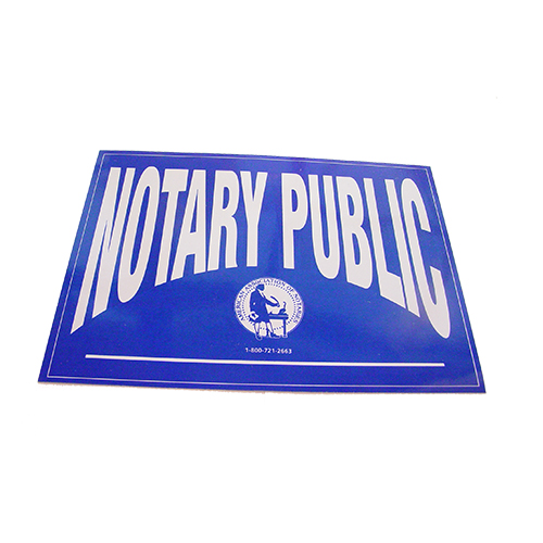 Indiana Notary Public Decal