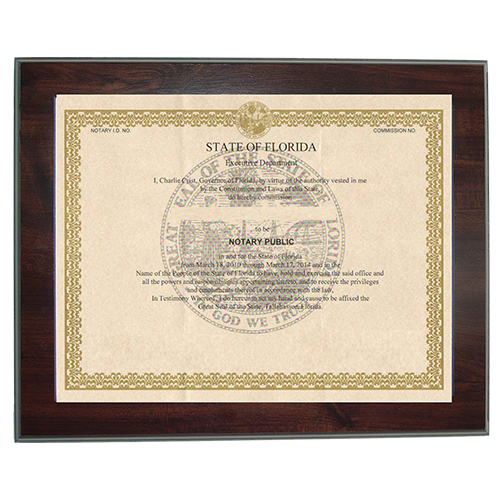 40% OFF Indiana Notary Certificate Frames - American Assoc ...