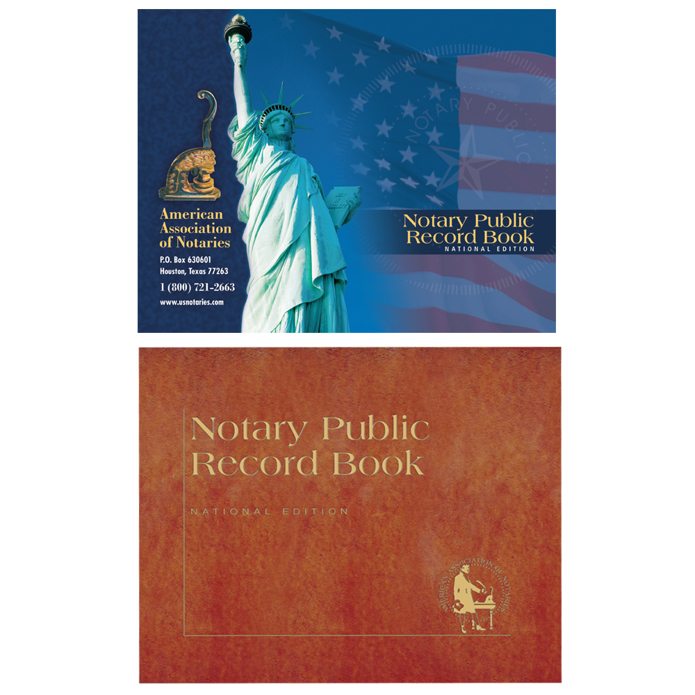 Indiana Notary Public Record Book - (450 entries with thumbprint space)