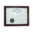 Indiana Notary Commission Certificate Frame