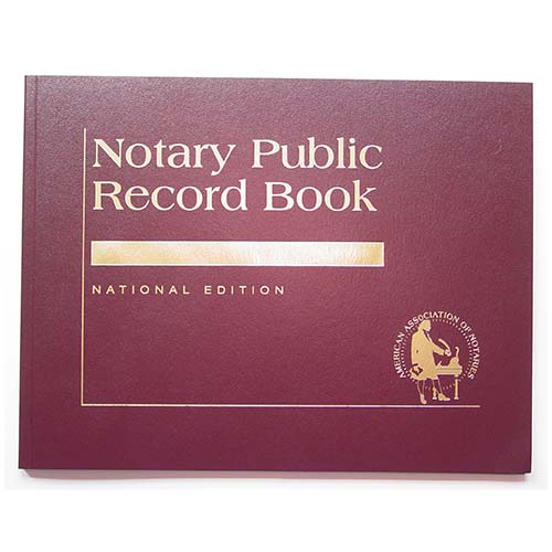 Indiana Contemporary Notary Public Record Book - (with thumbprint space)
